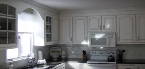 After kitchen cabinet refinishing